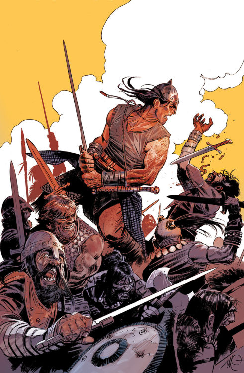 Conan The Barbarian #13, by Massimo Carnevale, as always.  An uncommon look at his ink work.