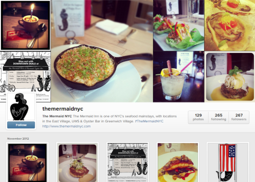 Cool! Instagram now has really pretty web profiles! Did you enter our contest yet? Tag your pics #TheMermaidNYC to win $100 voucher!Info: http://goo.gl/Jqsw3