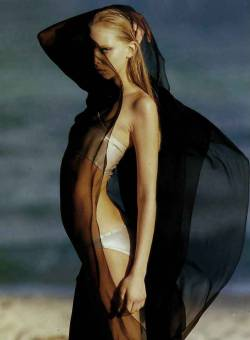"pradaphne:  Tanya Dziahileva in ""Dark Allure"", photographed by Hans Feurer for Vogue China July 2008."