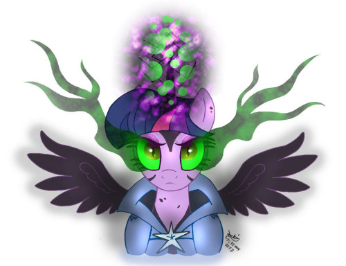 theponyartcollection:  MLP FIM - Twilight Sparkle Controled by Dark Magic by *Joakaha