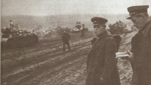 Soviet General Pavel Rybalko in the field, 1943