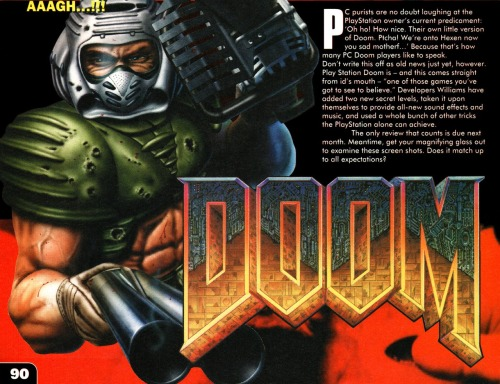 Doom artwork from CVG magazine.