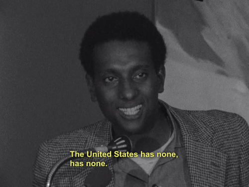 "readyforthe-revolution:  disciplesofmalcolm:  Stokely Carmichael (Kwame Ture)  ""Dr. King's policy was that nonviolence would achieve the gains for black people in the United States. His major assumption was that if you are nonviolent, if you suffer, your opponent will see your suffering and will be moved to change his heart. That's very good. He only made one fallacious assumption: In order for nonviolence to work, your opponent must have a conscience. The United States has none."""