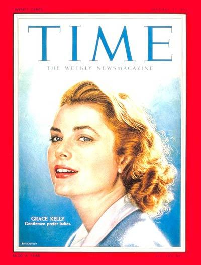 "November 12, 1929: Grace Kelly is born. Today would have been the birthday of Hollywood's princess, Grace Kelly. Pictured above, the actress appeared on the January 31, 1955 issue of TIME under headline, ""Gentleman prefer ladies.""  (link: subscription required)"