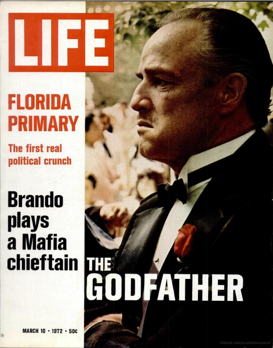 LIFE Magazine, March 10 1972: Grandfather of all cool actors becomes the Godfather  LIFE Magazine, March 10 1972: Grandfather of all cool actors becomes the Godfather is.gd/hckfEt — LaFamiliaFilm (@LaFamiliaFilm) November 12, 2012