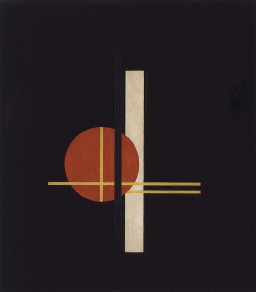Laszló Moholy-Nagy, Composition Q XX, 1923, Oil on wood