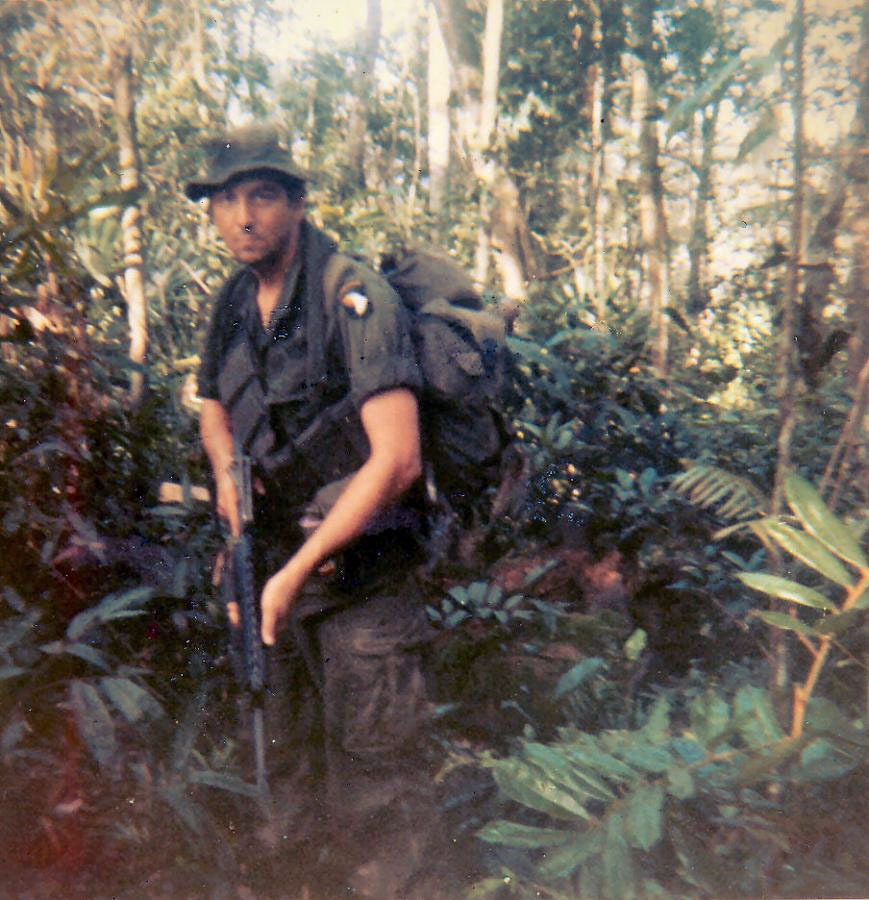 warinvietnam:  Sgt. James A Tyner on patrol near Quang Tri south Viet Nam. This one of the last pictures taken of him as he was killed in action April 15th 1970.