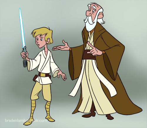 I don't know if anyone else has already done this Disney/Star Wars mashup yet, but it was too fun for me to resist.