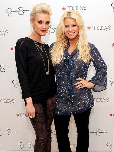 Ashlee Simpson + Jessica Simpson promoting their clothing line at Macy's department store in Costa Mesa, CA.Saturday