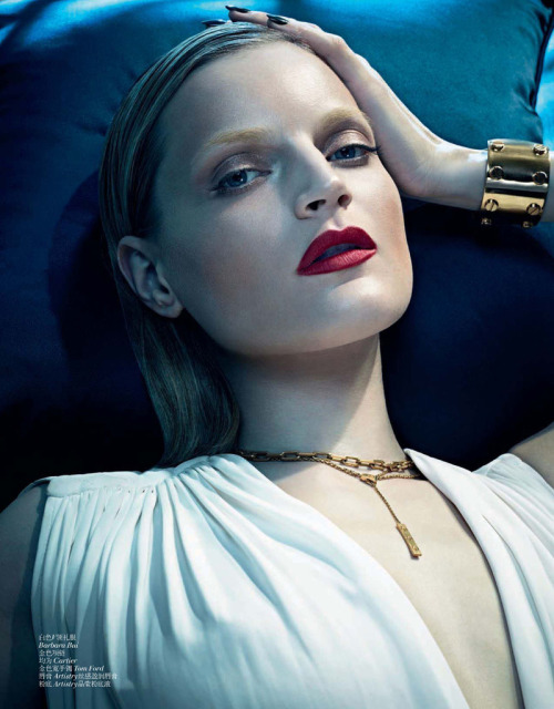"stormtrooperfashion:  Guinevere Van Seenus in ""White Touches"" by Sharif Hamza for Vogue China, December 2012"