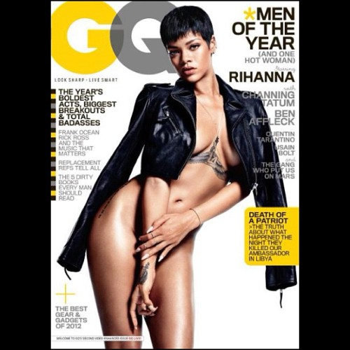defjamblr:  Rihanna x GQ  Bloodclaaawt! Good looking out GQ Photochoppers .. Riri has neither that big a junk or trunk. But I wish she did!