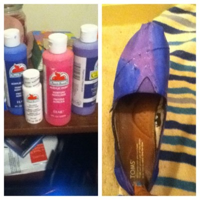 #picstitch the early stages of my #galaxy experiment ! #toms #paint #creative