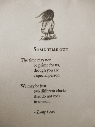 langleav:  Some Time Out by Lang Leav
