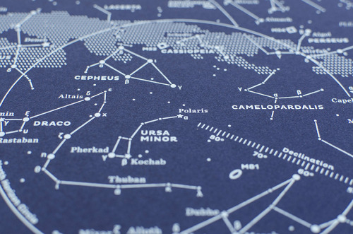 Stellavie Design presents silkscreen maps of the Northern and Southern stellar skies. Gorgeous work.