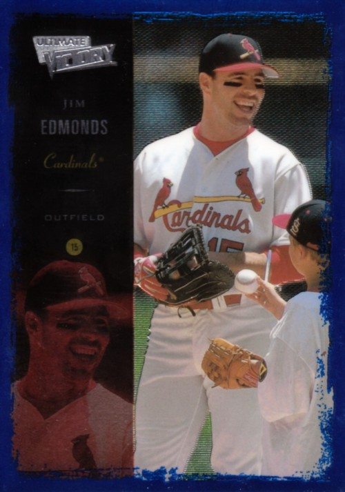 Random Baseball Card #2125: Jim Edmonds, outfielder, St. Louis Cardinals, 2000, Victory.