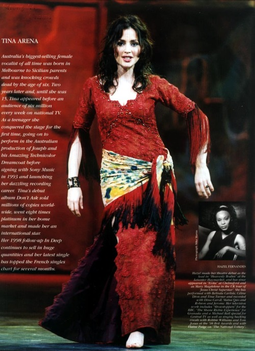 Full size scan of the programme from the British Production with Tina Arena as Esmeralda