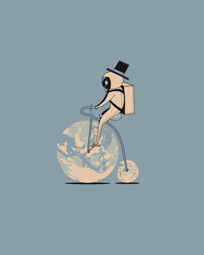 The classic lunar cycle Art Print by AGRIMONY // Aaron Thong | Society6