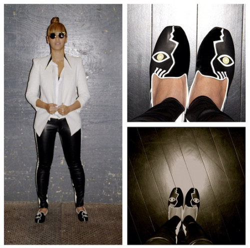SPOTLIGHT.  Beyoncé on Instagram wearing the SS12 Era Suiting Blazer.