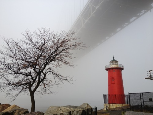 Beautiful fog in the early morning at Jeffrey's Hook Lighthouse. Nov '12