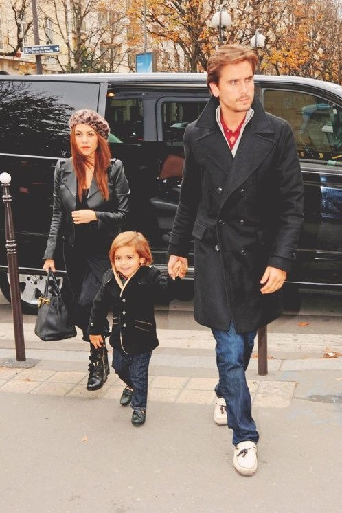 lovekardashfam:  Kourtney, Scott and Mason are in Paris, France.-November 12th, 2012
