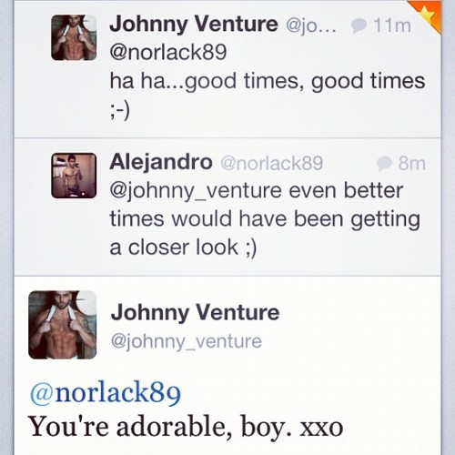 Hitting on sexy porn stars! That's how I do. #johnnyventure #lucasentertainment #thickdick #gay #pornstars #hot #instagay #montreal #uncut #horny #thirsty #noshame #homo #gaymen #instaporn