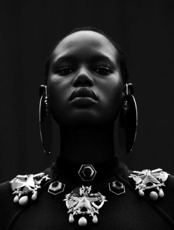 nothingpersonaluk:  Ajak Deng by Julia Noni