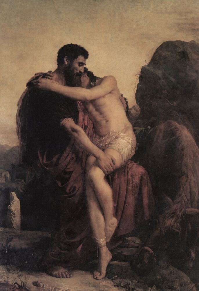 malventurado:  Leon Joseph Florentin Bonnat, The Good Samaritan, 19th century