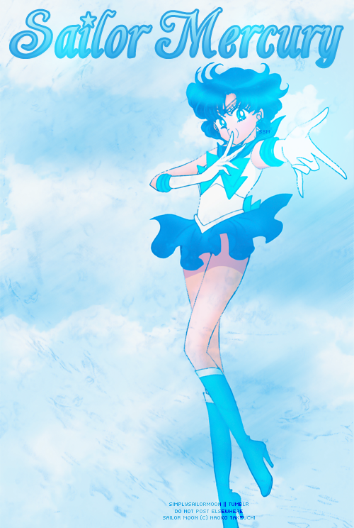Sailor Mercury by: simplysailormoon Colored Specifically for Lunacy Magazine Issue #2