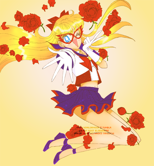 Sailor V by: simplysailormoon Full Sized Image Colored Specifically for Lunacy Magazine #3  Seriously one of my favorite manga colorings ever. I'm going to have to print this out and put it on my cork board.