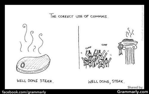 grammarlyblog:  Correctly placed commas are good. Appropriate hyphenation is too.  OMG I love this!!!!