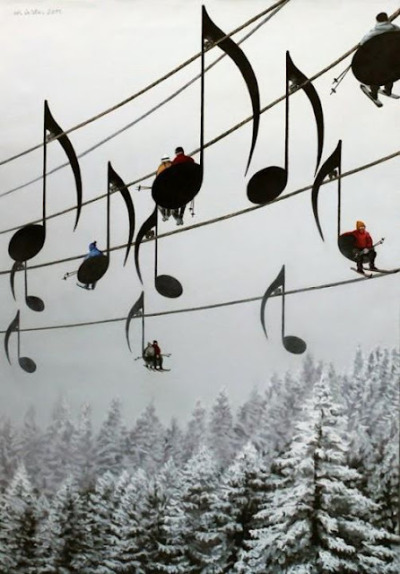yuria:  Musical Ski Lift, France photo via lila
