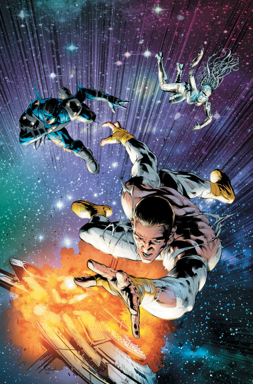 STORMWATCH #17Written by PETER MILLIGANArt and cover by WILL CONRADOn sale FEBRUARY 6 • 32 pg, FC, $2.99 US • RATED T+• Don't miss this major turning point issue as everything changes!• The death of a StormWatch member! • The end of StormWatch headquarters!
