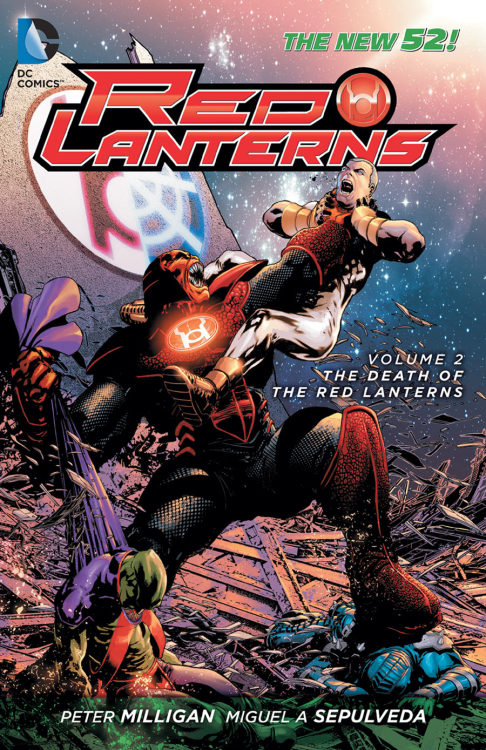 RED LANTERNS VOL. 2: THE DEATH OF THE RED LANTERNS TPWritten by PETER MILLIGANArt by ANDRES GUINALDO, JORGE JIMENEZ, MARK IRWIN, TOMAS GIORELLO and MIGUEL SEPULVEDACover by MIGUEL SEPULVEDAOn sale MARCH 6 • 144 pg, FC, $16.99 US• In this second New 52 volume, Atrocitus, the creator of the Red Lanterns, is haunted by his past. Abysmus has been freed from his imprisonment and intends to destroy not only the Red Lanterns, but all life. Then, Atrocitus must face a civil war led by Bleez. Did Bleez free Abysmus in an effort to topple Atrocitus? And is the new human Red Lantern Jack Moore the key to stopping Abysmus?• Collects RED LANTERNS #8-12 and STORMWATCH #9.