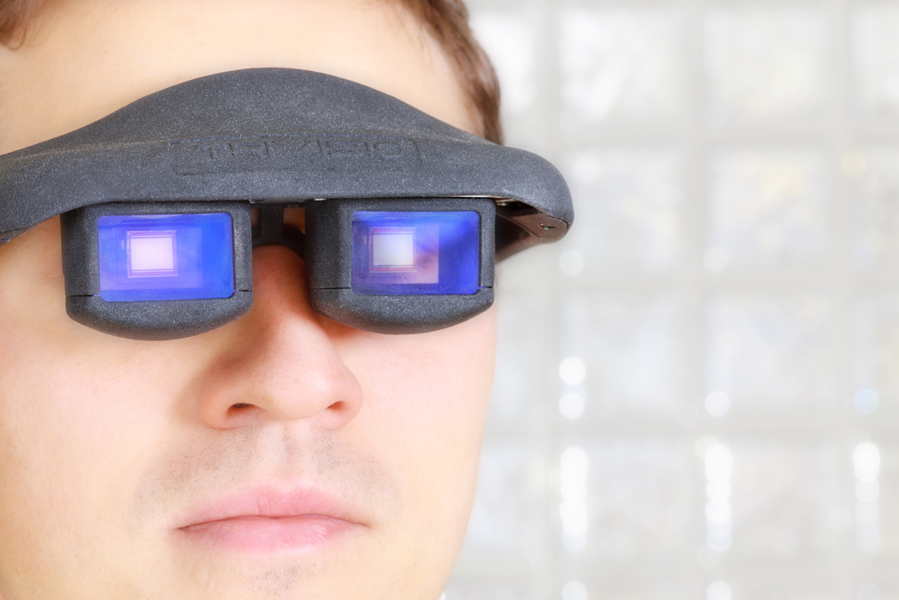 Putting on a pair of novel data glasses with an OLED microdisplay allows you to see not only the real world, but also a wealth of virtual information. Imagine looking through a repair manual; the trick here is that you turn the pages using just your eyes.