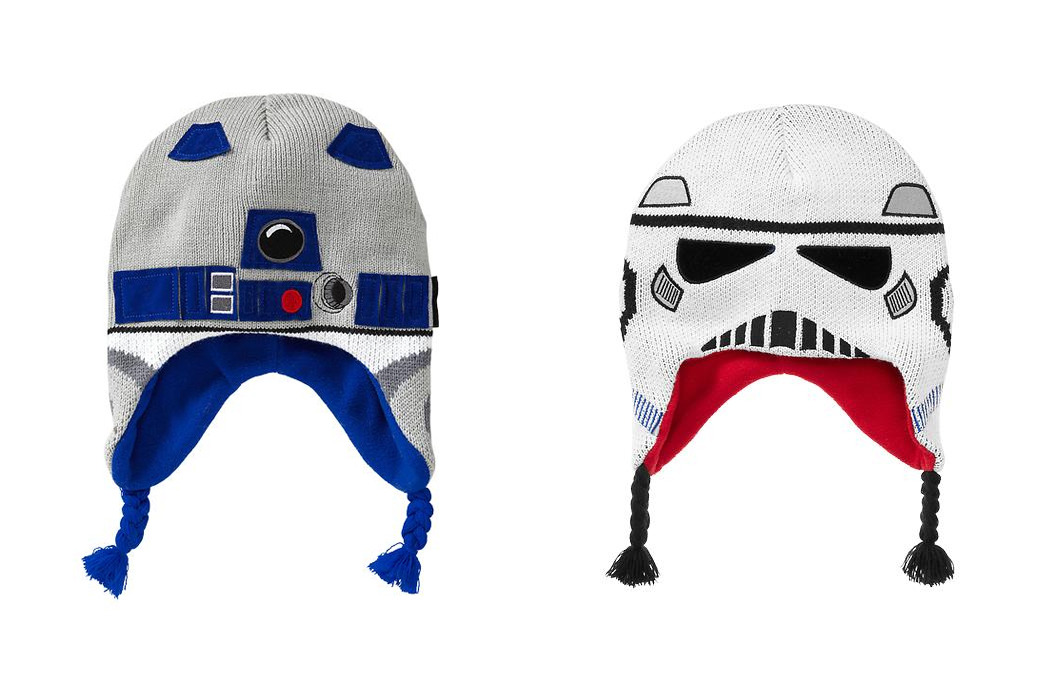 Gap Kids Star Wars hats. Kind of confused as to why Gap is doing that, but yah, cool.
