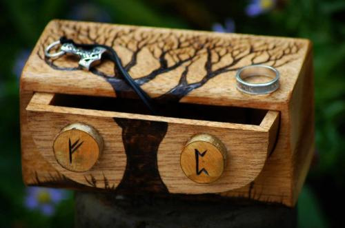 Norse Trinket Box by Norseman Arts. (source)