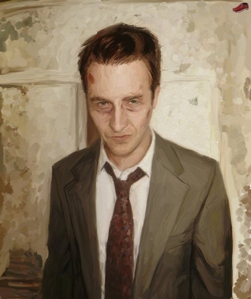 I am Jack's wasted life. Fight Club illustrated by Alexander Koshernov :: via stalkerms1.deviantart.com