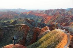 travelthisworld:  Morning on Danxia ♦ Zhangye, Gansu, China | by Melinda
