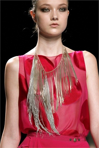 RTW S/S 2013 Highlights: Jewellery  Fringe necklace by Nina Ricci
