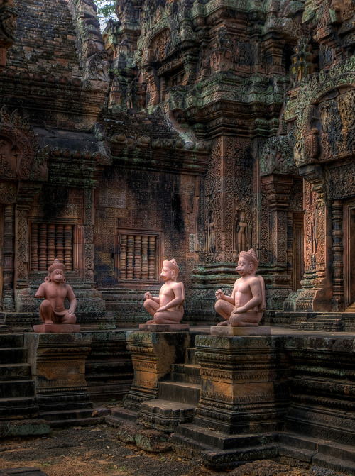 travelingcolors:  Banteay Srei Temple | Cambodia (by Further to Fly)  would love to be here