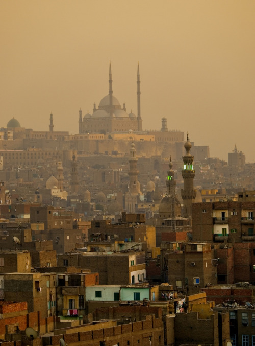 travelingcolors:  Sunset on the Old City, Cairo | Egypt (by Tom Horton)