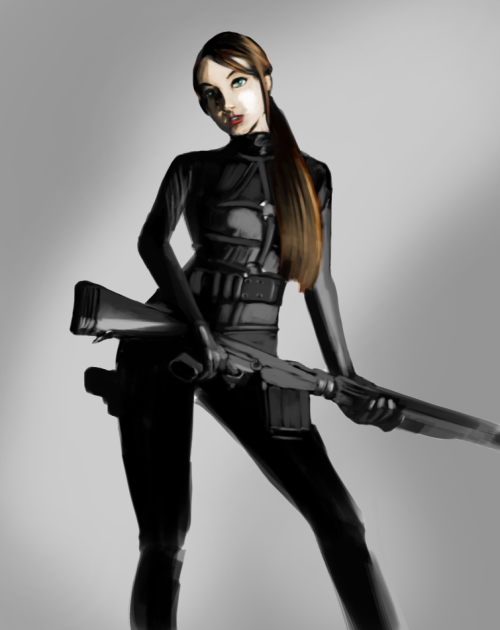 Girl With Gun by nisarenvia anipan reference used  - http://mjranum-stock.deviantart.com/art/308-love-11-332966775