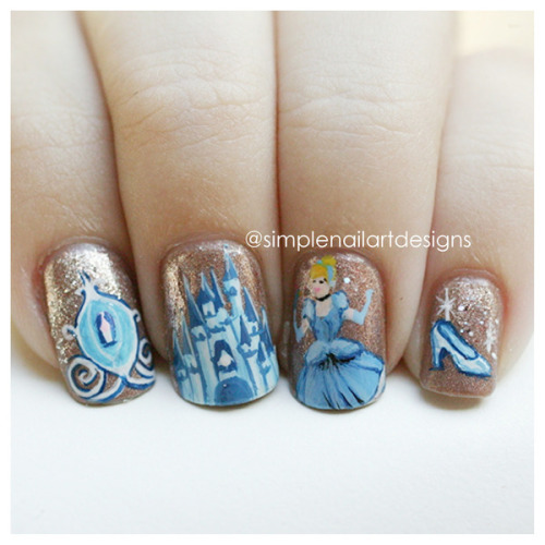 beautylish:  Awesome Cinderella nails by simplenailartdesigns s.!  Hey