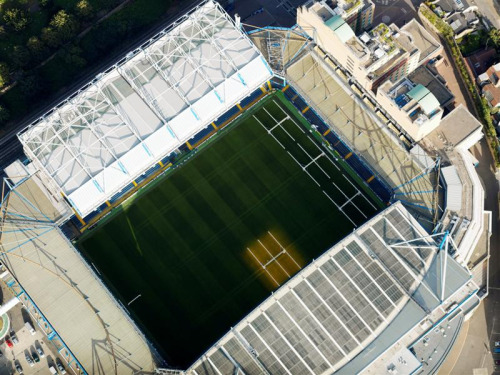hspn:  Bonus awesome photo: An aerial view of Stamford Bridge, 11 September 2007.