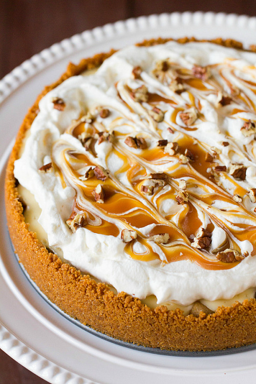 gastrogirl:  salted caramel apple cheesecake pie.