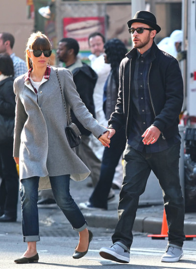 Justin Timberlake + Jessica Biel out + about in NYC Sunday…