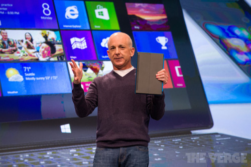 thecallus:  thisistheverge:  Windows head Steven Sinofsky leaves Microsoft Steven Sinofsky, the Microsoft executive in charge of Windows, has left the company. Julie Larson-Green is to assume control of Windows software and hardware engineering, and CFO Tami Reller will be in charge of the Windows business.  I guess we know how sales are going.  Yeah, looks like sales have only scratched the … Surface.