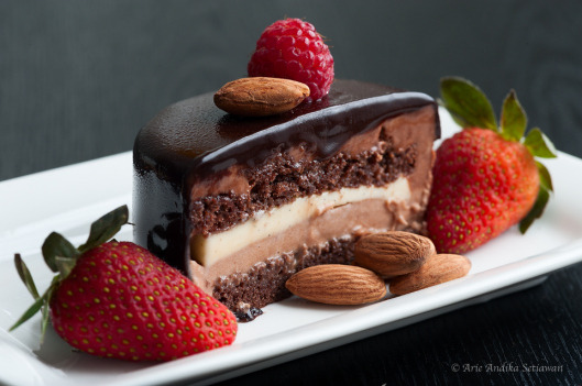 gastrogirl:  chocolate entremet with a hint of bailey's.