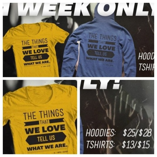 What do you love? For 1-week only you can purchase this shirt or hoodie! ashleighbrady.com/store  #love #passion #tshirts #hoodie