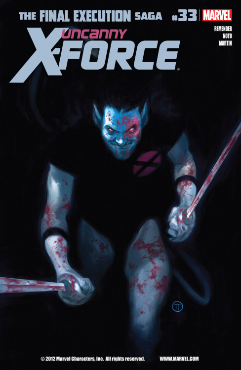 Uncanny X-Force #33, January 2013, written by Rick Remender, penciled by Phil Noto
